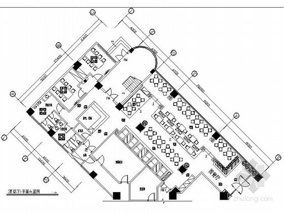 [原创]天津时尚别致西餐厅设计CAD施工图