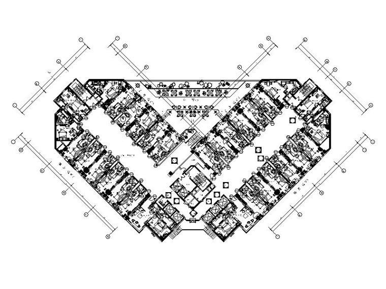 [上海]国际豪华大酒店室内设计CAD施工图(含效果图)