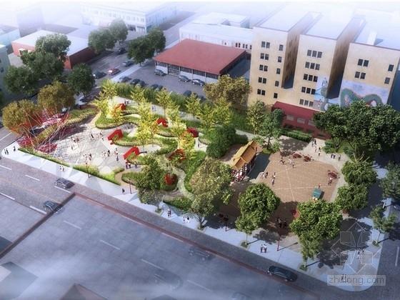 """[美国] """"城市戏台""""公园景观规划设计方案(英文方案文本)"""