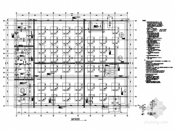 [山西]三层广场管理用房及车库结构施工图