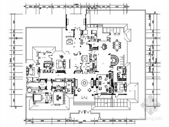 [内蒙]全套高档现代风格三层别墅室内设计装修施工图(图纸齐全 推荐!)