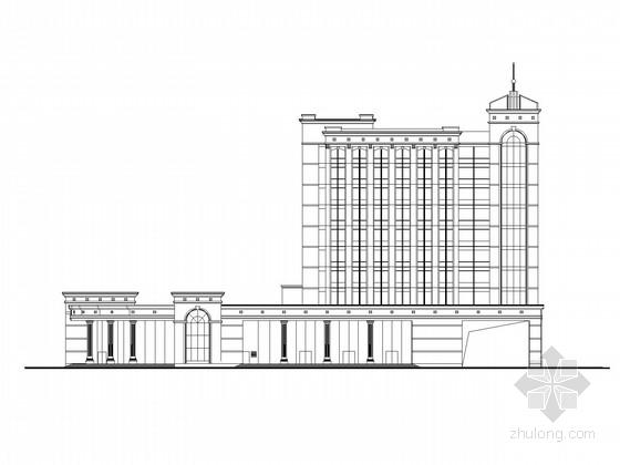 12层现代风格企业办公楼施工图