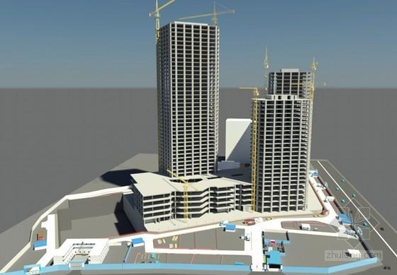 [QC成果]BIM技术在超高层商务楼塔吊布置中的全新应用