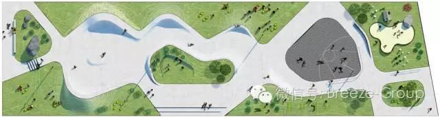 """莱姆维滑板公园-丹麦莱姆维市政府与景观设计团队EFFEKT合作,把临海港的一块坐落在美丽环境中的闲置工业用地改建成众望所归的娱乐休闲地。这块娱乐休闲 地通过""""滑板+公园""""的概念,被打造成为一个新型的,可适应不同年龄段市民的各种需求的多功能城市公园区,成为一个受欢迎的新社会空间。"""