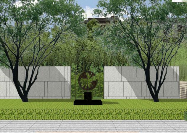 成都东原惠南示范区景观方案文本-04中轴景墙