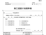 【B类表格】施工进度计划报审表