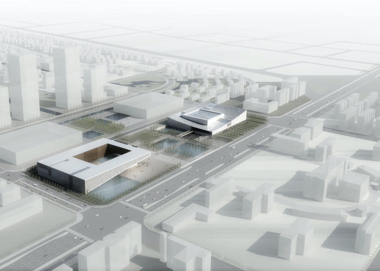 VR体验馆建筑设计资料下载-[安徽]蚌埠博物档案规划馆建筑设计方案文本
