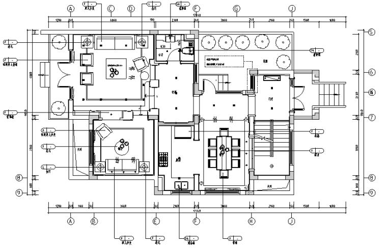 [上海]现代简约风格风景水岸样板房设计施工图(附效果图)
