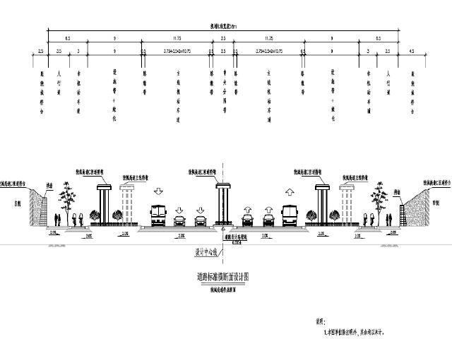2016年双向六车道城市快速路工程设计图纸991页(道路排水照明,智能交通)