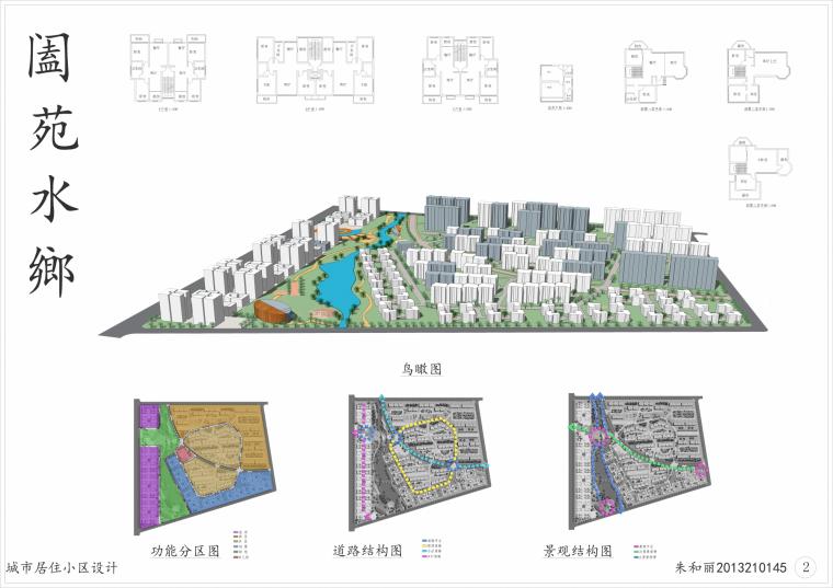 鸟瞰图-居住小区设计第1张图片