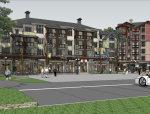 底层商业街北欧风格建筑设计(su模型)