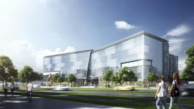 珠海孵化地的创意办公大楼