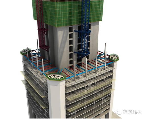 建筑结构丨超高层建筑钢结构施工流程三维效果图_27