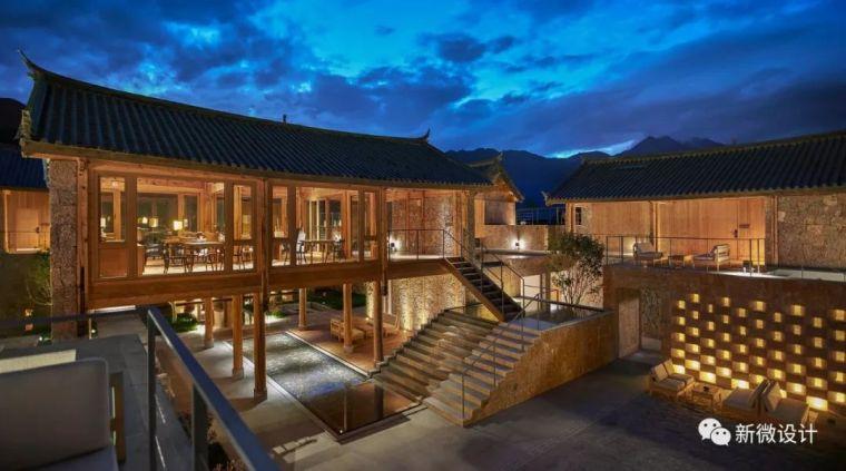 玉龙雪山脚下的一处纳西族民俗酒店,美