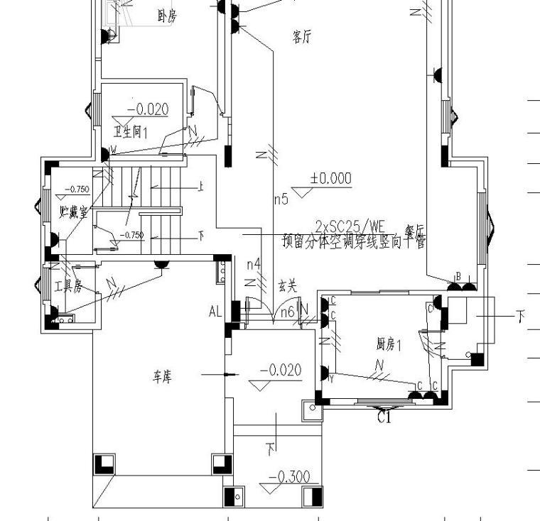 某二层别墅电气及防雷图纸