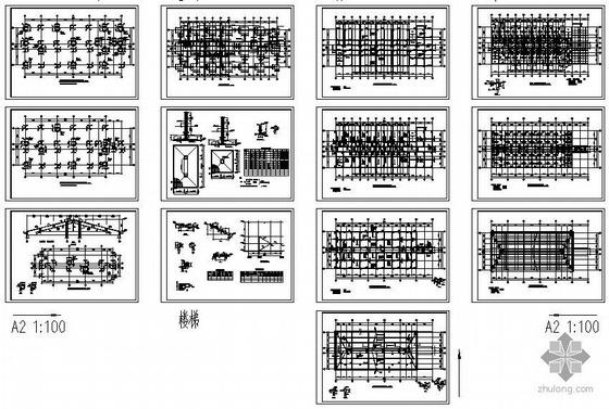 某坡屋面宿舍结构图