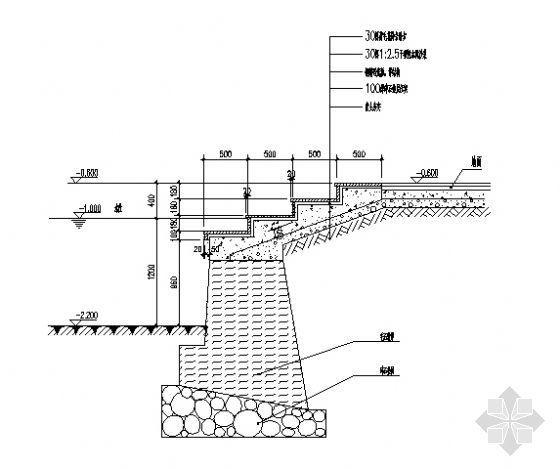 亲水平台剖面详图2-4