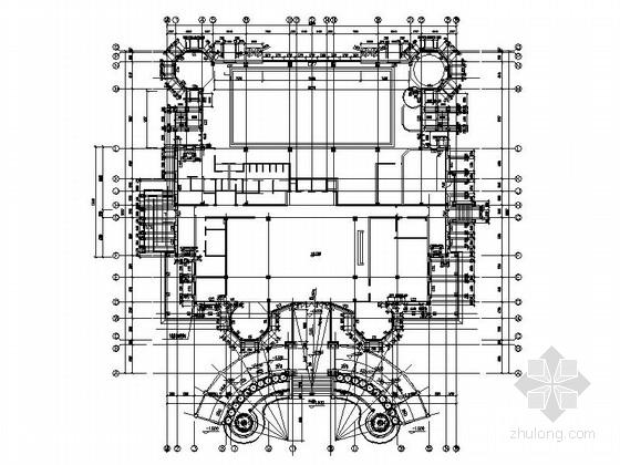 [广东]豪华综合会所楼外立面装饰及幕墙工程竣工图