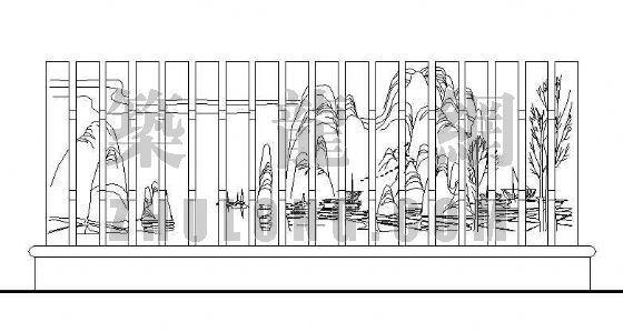 列柱景墙详图