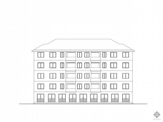 某五层一梯二户住宅方案图(带CAD模型)