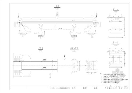 18+32+18m现浇预应力砼连续刚构桥梁全套施工图(22张)