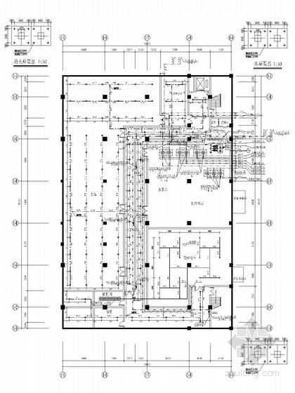 [山东]图书馆建筑给排水施工图(气体灭火)