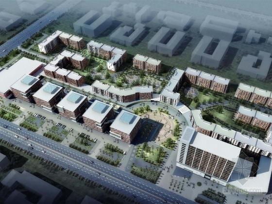 [山东]德式风格多层酒店式公寓建筑设计方案文本(含商业街区规划)