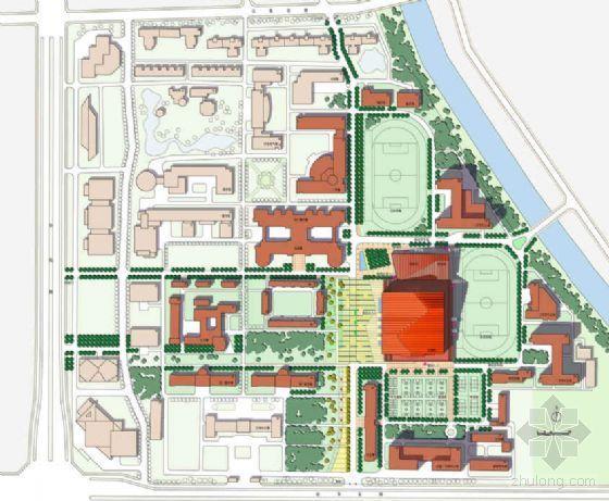 北京高校08奥运会摔跤馆景观与建筑深化设计方案