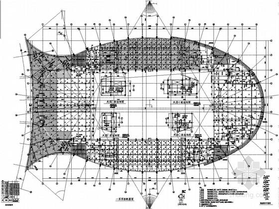[吉林]四层框架结构体育中心结构施工图(带地下室)