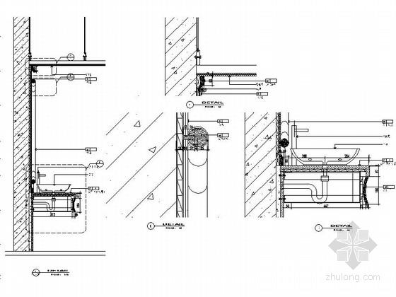 现代会所卫生间室内装修节点图