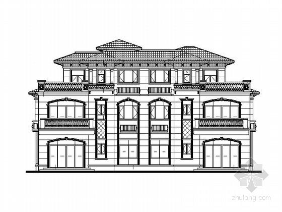 [安徽]三层法式双拼别墅建筑施工图(知名地产)