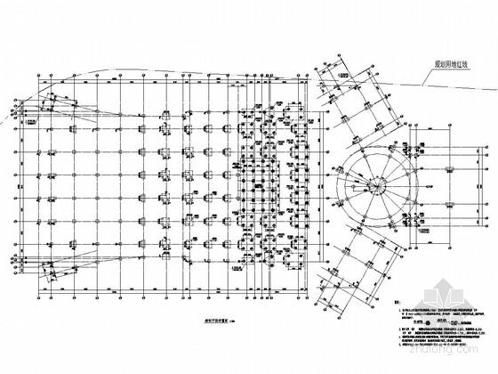 [浙江]地上21层框剪结构与三层框架结构办公大楼结构施工图(含钢结构 113张图纸)