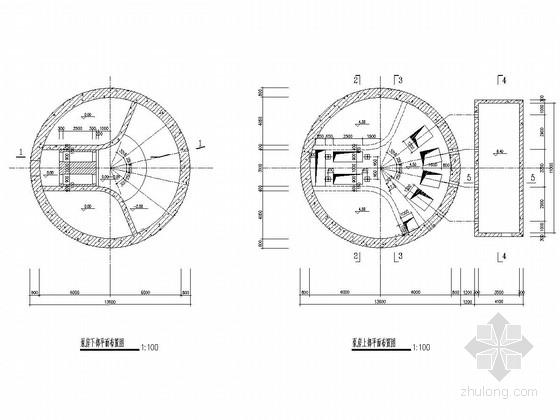 污水泵站沉井结构施工图