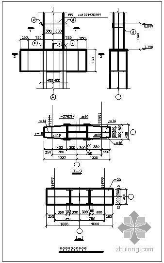 某组合柱牛腿节点构造详图(一)