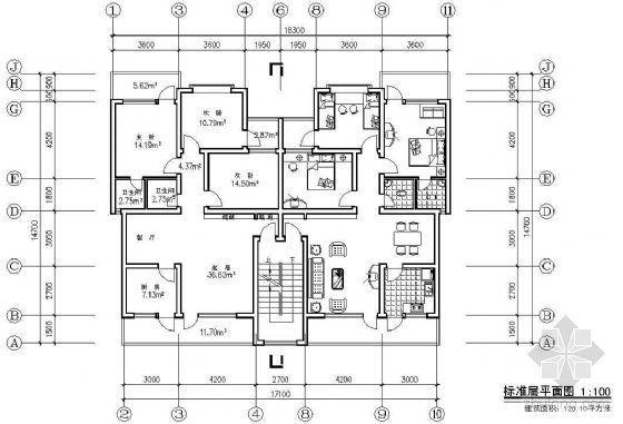 某板式住宅拼接单元户型平面(一)