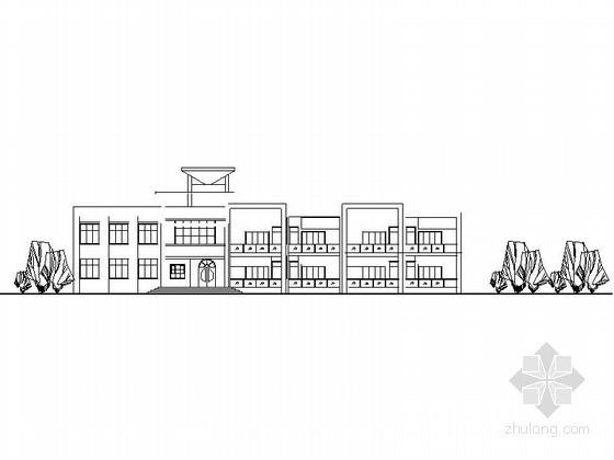 某二层四班幼儿园建筑方案图(含效果图)