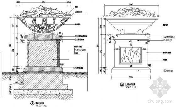 喷水花钵详图1