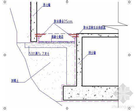 悬挑地下室逆作法施工工法