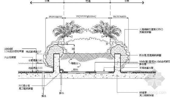 水景花池大樣圖