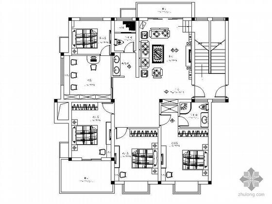 [上海]双层简欧式风格别墅住宅装修图