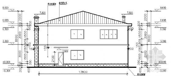 某二层小别墅建筑方案图-2