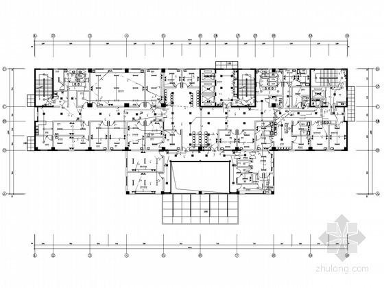 [安徽]医院医技门诊楼全套电气施工图纸73张(含变配电工程)