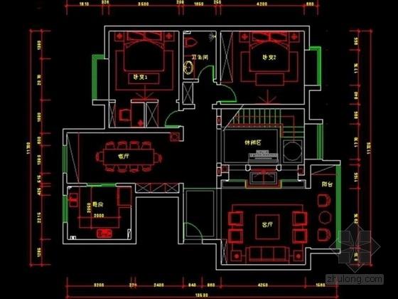 [陕西]某简欧风格双层洋房室内设计方案