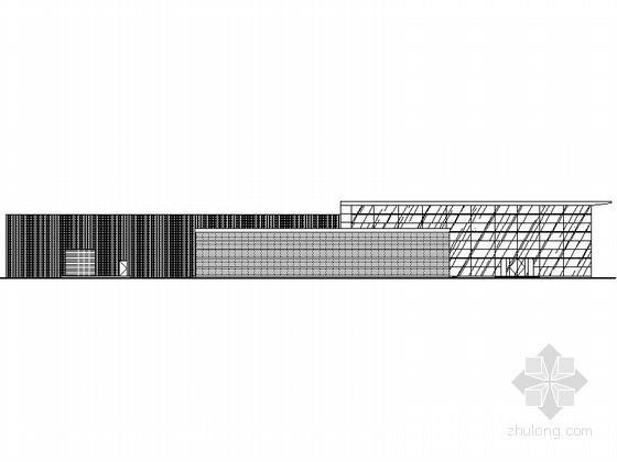 某知名汽车品牌一级网点B级店建筑施工图(纵置展厅、侧面入口型)