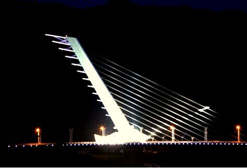 白鹭大桥钢塔竖向转体施工技术(无背索竖琴式斜拉桥)