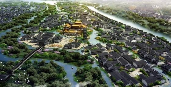 [广西]新中式风格自然生态旅游休闲度假区规划设计方案文本-新中式风格自然生态旅游休闲度假区效果图