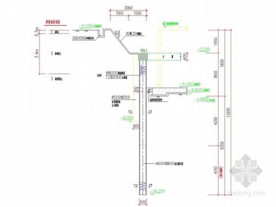 [浙江]內撑式钻孔灌注桩排桩墙基坑支护初步设计图