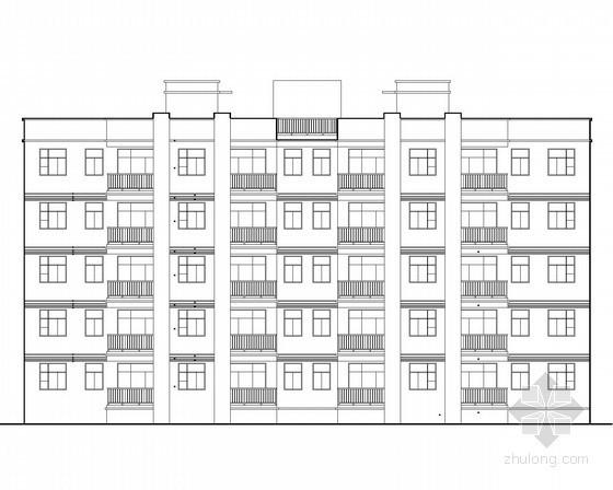 某五层外廊式宿舍建筑施工图