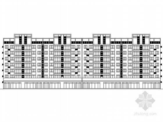 某七层商住楼建筑施工图(住宅南梯)