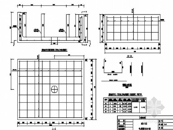 铁路路基电缆槽设计通用图8张(说明 配筋大样)